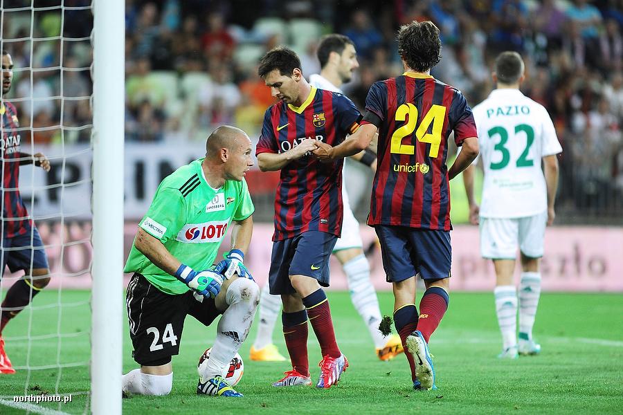 Mateusz Bąk i Leo Messi