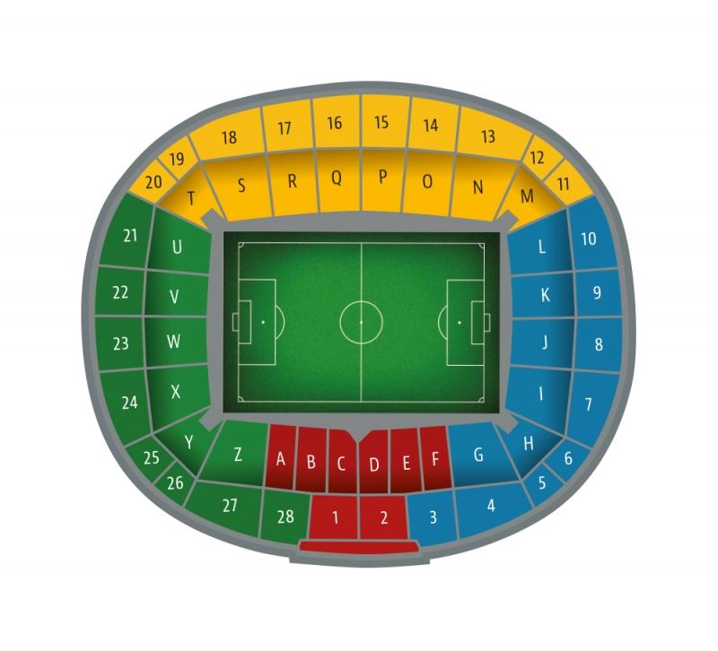 Plan Sektorów stadionu Lechii Gdańsk