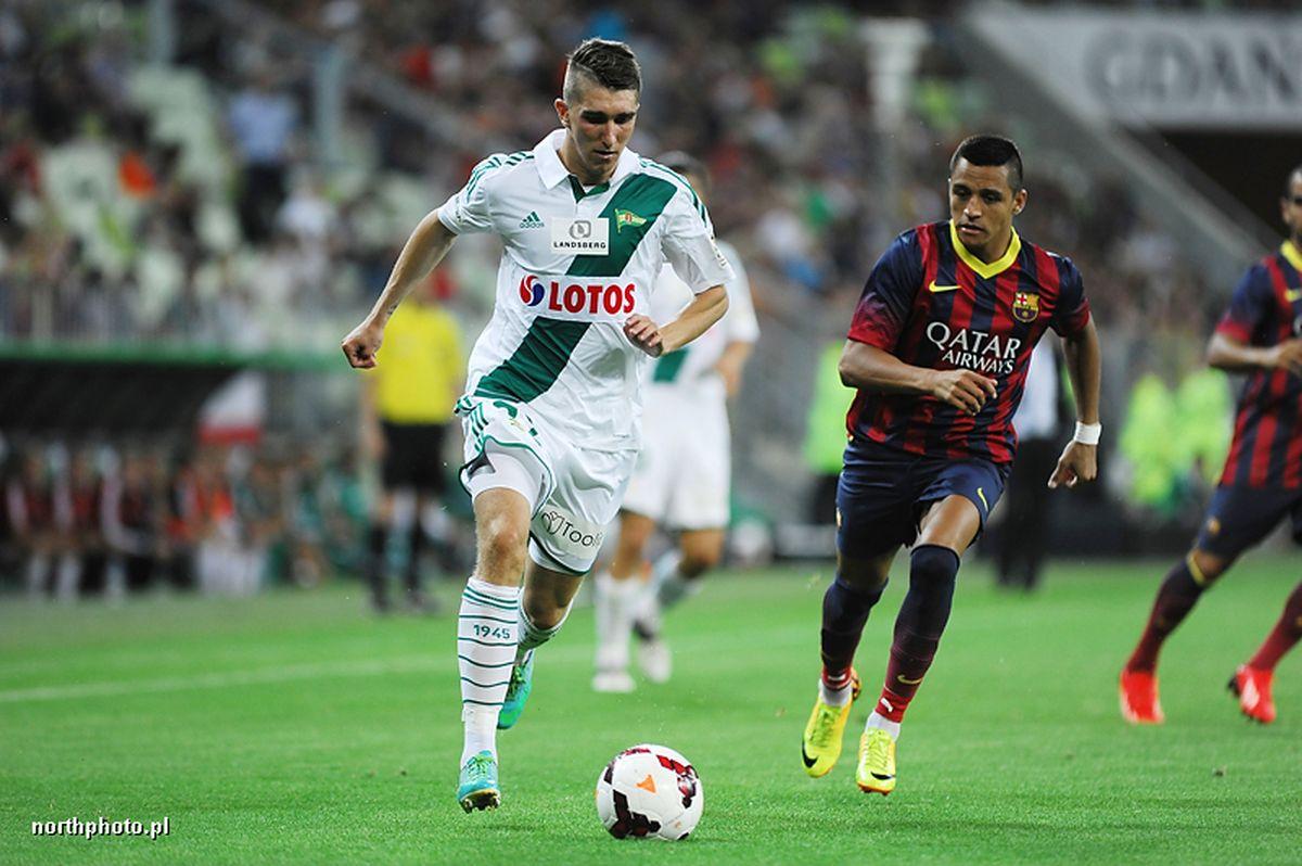 LECHIA GDANSK - FC BARCELONA N/Z ADAM PAZIO FOT PIOTR MATUSEWICZ